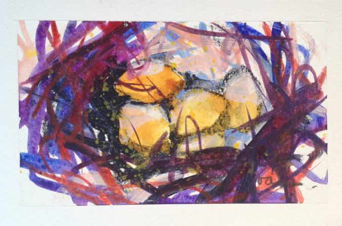 """Purple & Yellow Nest"""